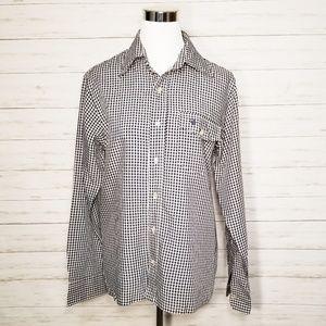 Christian Dior Vintage Gingham Shirt Navy White